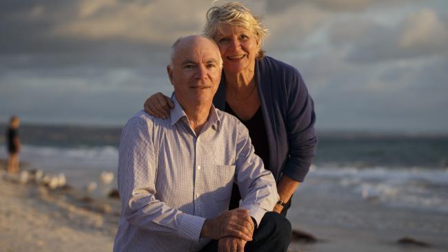 Photo of couple on the beach.
